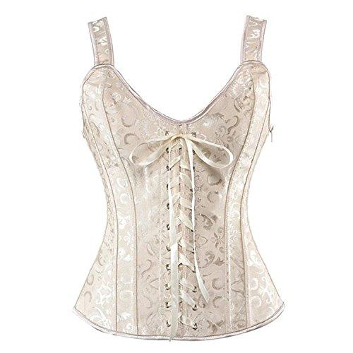 Bustino corsetto taglie forti sexy burlesque donna modellante elegante intimo donna cachi l