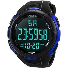 Reloj digital impermeable para hombre, KanLin1986 Reloj LED digital deportivo para mujer Fecha de alarma