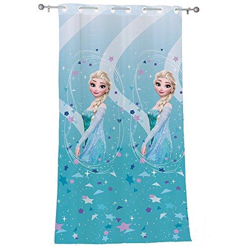 Disney Frozen Ice Fertig-Gardine Polyester Hellblau 140 x 240 ()