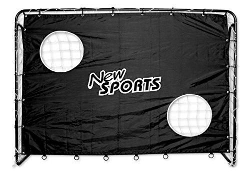 New Sports Fußballtor und Torwand, 213x152x76cm, schwarz