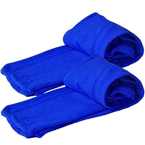 Astage Kleinkind Mädchen Active Strumpfhosen Leggings Unterwäsche Strumpf 2pcs Königsblau L (Kleinkinder Strumpfhosen Footless)