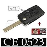 Plip Coque de clé de voiture pour Citroen Jumpy et Peugeot Expert avec Pile Maxell CR1620