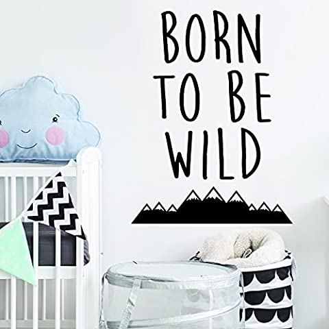 Born to be Wild Adventurer Bedroom Kids Room Playroom Wall Sticker Wall Art Vinyl Transfer Wall Decal Wall Mural - Multiple Colour Choices