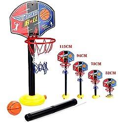OurKosmos® ajustable niños Kids Junior del aro de baloncesto y el soporte de la bomba de la bola del tablero trasero Juego de bolas diversión al aire libre Juguetes actividades de interior y por 3-7 años los niños de más edad juego de deportes