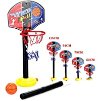 ajustable niños Kids Junior del aro de baloncesto y el soporte de la bomba de la bola del tablero trasero Juego de bolas diversión al aire libre Juguetes actividades de interior y por 3-7 años