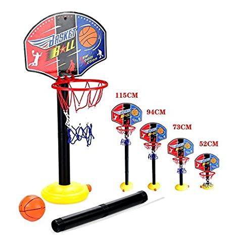 OurKosmos® réglable Enfants Enfants junior Basketball Hoop And Ball stand Pump Backboard Set Indoor et Outdoor Fun billes Jouets Activités pour 3-7 ans d