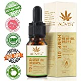 Hemp Oil Drops 30%, Natural Hemp Seed Oil for Pain, Anxiety & Stress Relief - 3000mg Organic Hemp Extract,Vegan & Vegetarian Friendly (10ml)