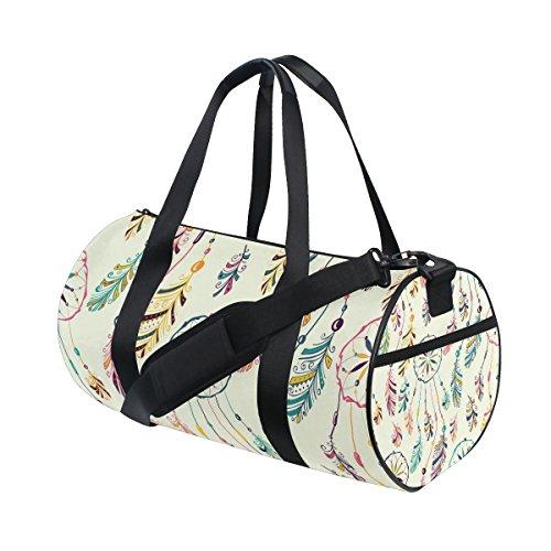 jstel Atrapasueños plumas bolsa de deporte gimnasio para hombres y mujeres bolsa de viaje de viaje