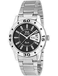 Watch Me Day And Date Series Black Analog Stainless Steel Quartz Watch For Women And Girls With Working Day/Date...
