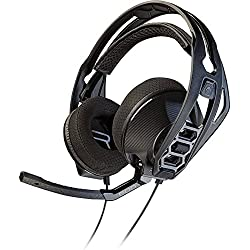 [Cable] Plantronics RIG 500 - Auriculares de diadema cerrados con micrófono, color negro, 21.6 x 18.9 x 6 cm