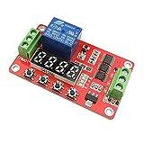 uniquegoods Interruptor 12V DC Multifunción auto-bloqueo del relé temporizador PLC Ciclo Módulo de Tiempo de retardo