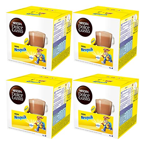 Nescafé Dolce Gusto Nesquik, Paquete de 4, 4 x 16 Cápsulas