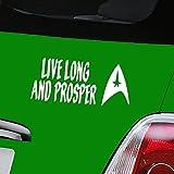 Star Trek Live Long und Prosper weiß Auto Aufkleber Vinyl Fenster Aufkleber–nur eine P & P Laden Pro