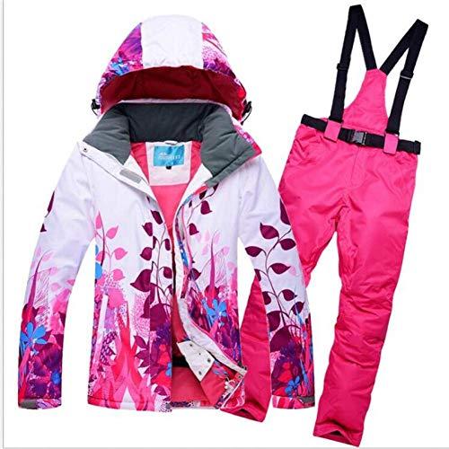 GJBXP Frauen Ski Jacken Und Hosen Schnee Snowboard Kleidung Warme wasserdichte Winddichte Winterkleid Skianzüge Set M