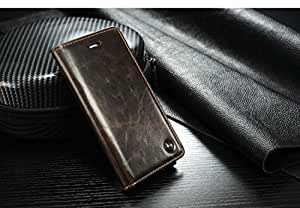 Excelsior Premium Leather Magnet Wallet Flip Cover Case For Apple iPhone SE, Apple iPhone 5s - Brown