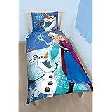 Galleria farah1970–Disney Frozen Anna Elsa y Olaf funda nórdica individual Juego de cama Frozen Anna Reina del Hielo–singolo- hecha con licencia oficial