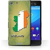 Carcasa/Funda STUFF4 dura para el Sony Xperia M5 / serie: Naciones bandera - Irlanda/irlandés