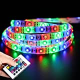Diwali Christmas Decorative 5 Meter Self-adhesive Waterproof RGB Remote Control LED Strip Light-Color Changing
