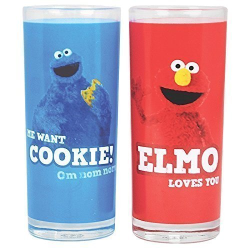 (Preis am Stiel ® Glasses 2 Pack - Sesame Street (Cookie Monster & Elmo))