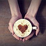 Liroyal, stampini per cappuccino o caffè, set da 16 pezzi, colore bianco white.