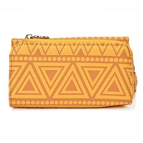 Kroo Pochette/Tribal Urban Style Téléphone Coque pour Samsung Galaxy Young rouge jaune