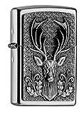 Zippo Sturmfeuerzeug 2004736 Deer Emblem Hirschkopf mit Geweih