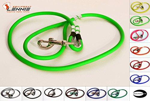 RUNDE BioThane® Führleine 6 mm (0,3-3 Meter [2,0 m], 17 Farben [Neon-Grün])