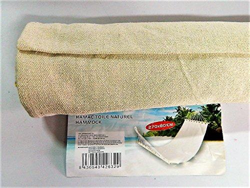 hamac tissu naturel extérieur camping plein air balançoire dortoir 270x80cm