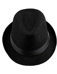 Shanxing Unisexe Chapeau Fedora Trilby Panama Eté Plage Casquette pour Homme Femme
