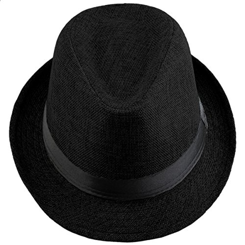 Shanxing Fedora Hats for Men Trilby Hat Panama Style Summer Beach Sun Jazz Cap