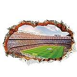 GHJL Fußballspiel Serie 3D Fußball Loch wasserdichte Wandaufkleber Fußballspiel In Der Turnhalle Vinyl Kunst Aufkleber 60 * 90 cm