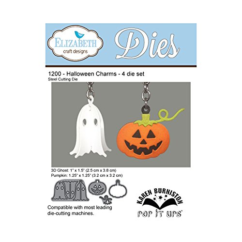 Elizabeth Craft Designs Halloween Charms sterben, Metall, grau, 17,7x 11,3x 0,2cm
