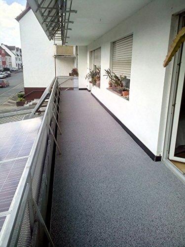 8M² -100kg Steinteppich/grau 2-4mm, inkl. 4kg 1K PU-Bindemittel, Trennmittel