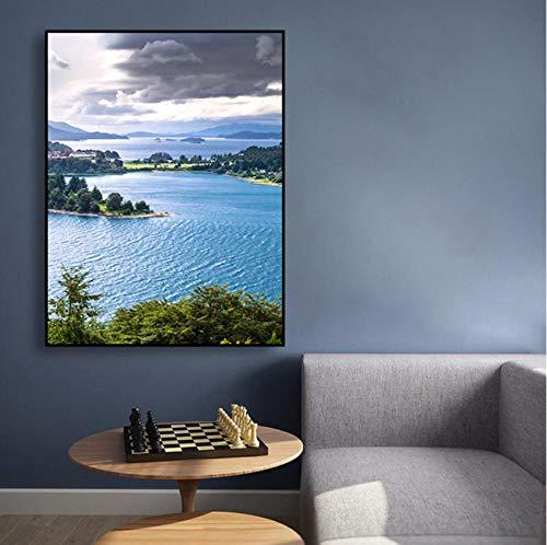 See Wald HD 1 Stücke Drucke Poster Leinwand Wohnkultur Malerei Wandkunst Modulare Bild Für Kinderzimmer Geschenk Geburtstag-60x80cm
