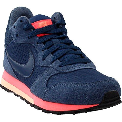 Nike - Wmns MD Runner 2 Mid - Color: Arancione-Blu marino - Size: 38.0