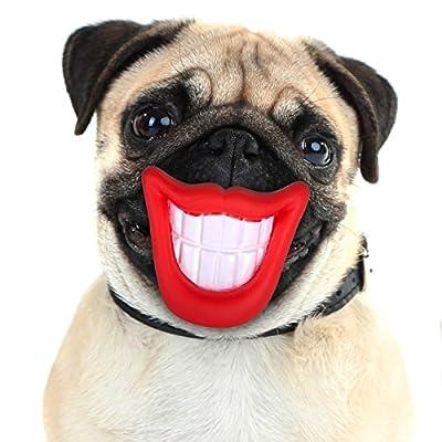 Vinyl Smile Squeaky Pet Toy Dog Puppy Chew Funny Lips & Teeth Sound Activity