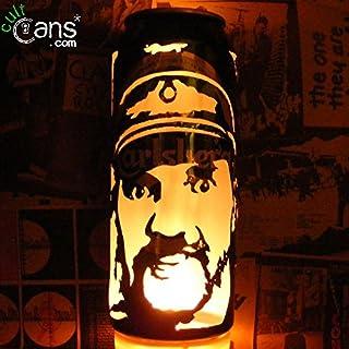Lemmy Kilmister Beer Can Lantern! Motorhead, Hawkwind Pop Art Portrait Lamp - Unique Gift!