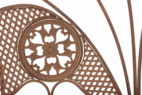 CLP Metall-Gartenbank TJURE im Landhausstil, Eisen lackiert, ca. 140 x 60 cm Antik Braun - 5