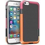 """iPhone 6 / 6s Funda – [Ultra Hybrid] HanLuckyStars Funda Carcasa Case TPU Matte Shell Exact Bumper Tope Shock Protección Gota Anti-Arañazos , Choque Absorción Borrar Espalda para Apple iPhone 6 / 6s 4.7"""" (Naranja/Rosa)"""