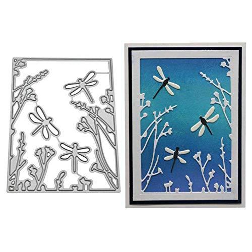 Dragonfly Album (VICKY-HOHO Dragonfly Heart Metal Cutting Dies Stencils DIY Scrapbooking Album Paper Card Craft)