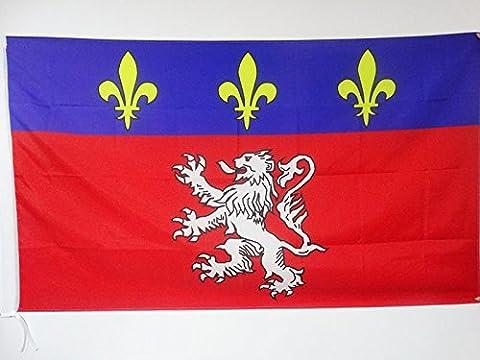 Fourreau 90 - DRAPEAU PROVINCE DU LYONNAIS 150x90cm - DRAPEAU