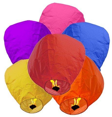 10 Farolillos Volantes Colores Mixtos