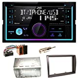 JVC KW-R930BT Bluetooth USB MP3 Autoradio CD AOA2.0 iPhone iPod Doppel Din Einbauset für FIAT Ducato Boxer Jumper