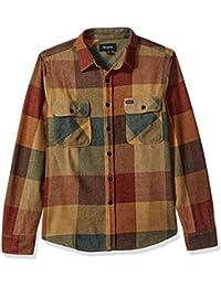 Brixton Hombre Apparel Bowery L/S Flannel, hombre, BOWERY L/S FLANNEL, rust/Copper, small