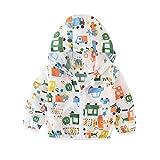 Xinwcanga Kinder Sommer Sonnenschutz Jacken Hoodie Oberbekleidung Reißverschluss Kapuzenmantel Sonnen Schutz Bekleidung (Weiß#1, 110)