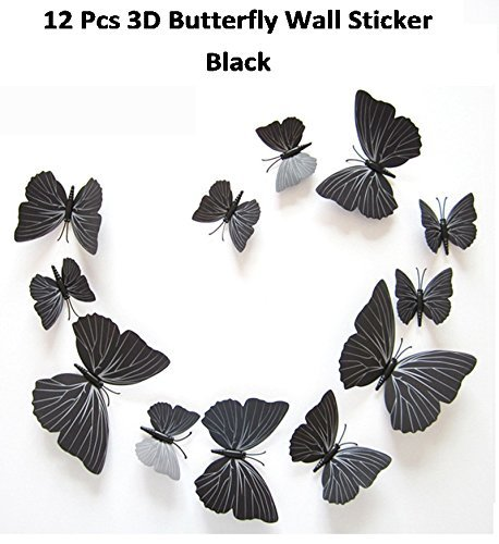 Butterfly Sticker -12 PCS 3D Butterfly Wall Stickers Decor Art Decorations Butterfly Wall Decals Removable DIY Home Decorations Art Decor Wall Stickers for Wall Decor Home Art Kids Room Bedroom Decor Card Making Stickers Buy Shuban