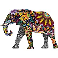 Thorpe Signs LARGE Abstract Elephant Full Colour Wall Sticker Vinyl Decal Wall Art Transfer