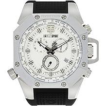 TECHNO Sport Hombre Chrono Reloj–Aviation Plata