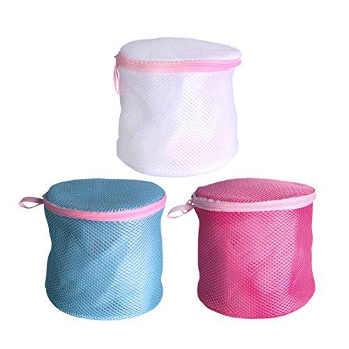 Andux Zone Casa lavanderia essenziale borsa di lavaggio della maglia set con cerniera reggiseno lavare borsa (3 pezzi) - Multi set da viaggio scopo