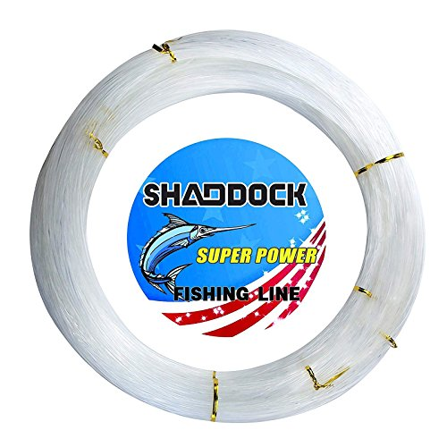 Shaddock Fishing Nylon Monofile Angelschnur Seil 500M 0,3mm-2,0mm Super Starke Nylon Monofil Speer Angelschnur Speargun Linie für Salzwasser/Süßwasser Angeln(Clear,Wire Diameter:1.3MM)